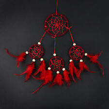 Medium size Indian Style Dream Catcher Handmade Hanging Decor with Red Feather