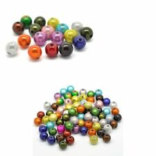 Mixed Miracle Acrylic Round Spacer Beads 10mm 90 Pack (1.4mm Hole)