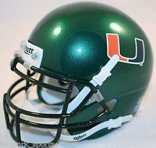 MIAMI HURRICANES (GREEN) Schutt XP Mini Helmet