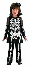 "PUMPKIN JUNCTION ""SKELETON GIRL"" GIRLS HALLOWEEN COSTUME TODDLER SIZE 2T-4T"