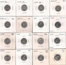 Lot of 16 Dimes {10 Cents} 1968 --- 1971 to 2010 -- UNC to BU.