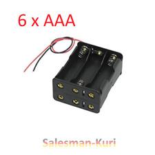 DE! 6 fach Batteriehalter 6x AAA Batteriegehäuse Reihenschaltung Batteriefach