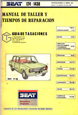 Manual de Taller y tiempos de reparación Seat 124 - 1430. Workshop PDF