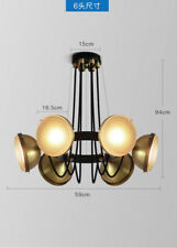 Industrial Motor Chandelier Steampunk Antique Brass E7 Light Ceiling Lamp Home