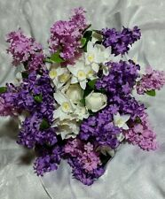 Purple and Lavender Lilac wedding flowers 24pc set. Hand-tied bouquet