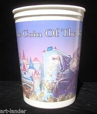 EXCALIBUR CASINO Merlin Plastic Coin Cup Bucket Chip Slot Machine Las Vegas