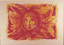 ALIGI SASSU - Rara litografia originale firmata e numerata (50x70)