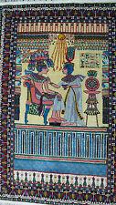 S. antigua Orient alfombra Egyptian Pictorial Rug Pharaoh Akhenaten & Nefertiti