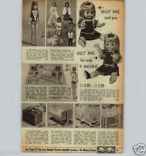 1967 PAPER AD Skipper Francie Doll Twin Dolls Topper Baby Magic Ideal Tubsy