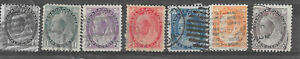 Canada Victoria numeral issues  1/2-10c F-Vf cv $80+