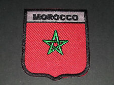 BACKPACKERS NATIONAL COUNTRY SHIELD FLAG SEW/IRON ON PATCH:- MOROCCO