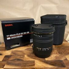 Sigma 17-50mm f/2.8 EX DC OS HSM Lens for Canon EF Mount in EXCELLENT USED