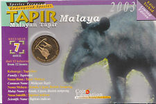 The Endangered Species - Malayan Tapir Education Coin Card.- 2003