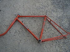 Ex telaio per bicicletta acciaio vintage arancione Zingaro 80s francese antico