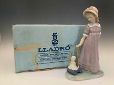 "Lladro ""Girl With Toy Wagon"" Figurine #5044 In Original Box"