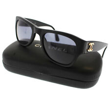 CHANEL CC Logos Sunglasses Black Gold-Tone Italy Vintage Authentic #9392 M