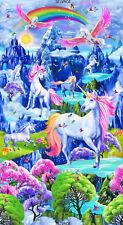 Timeless Treasures ~ Unicorns Pegasus Fantasy ~ 100% Cotton Fabric Quilt Panel