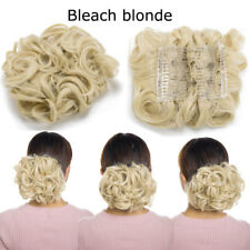 95g Messy Curly Comb Clip IN Hair Bun Piece Black Soft Scrunchies Hair Extension
