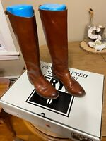 Frye Womens Melissa Button Brown Leather Fashion Boots Size 6 w Original Box
