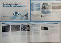 VW T4 Transporter Caravelle Bedienungsanleitung Betriebsanleitung 8/1992