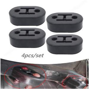 4 Pcs Black Rubber Car Exhaust Tail Pipe Mount Bracket Holder Hanger Insulator