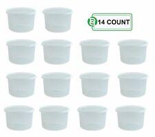 Round Deli Food Storage Containers Plastic Reusable Clear - 64 oz (Half Gallon)