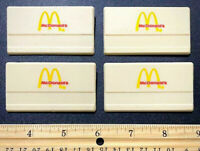 LOT OF 4! Vintage MCDONALD'S Uniform Nametags W/ Pinbacks RESTAURANT ADVERTISING