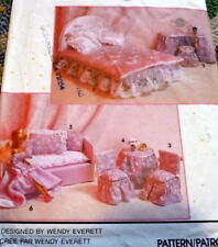 "*GREAT VTG 11 1/2"" BARBIE DOLL CLOTHING & DOLLHOUSE FURNITURE SEWING PATTERN UC"