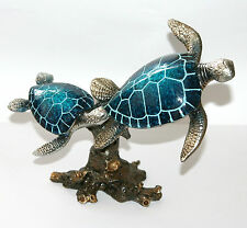 Juliana Natural World - BLUE TURTLES Ornament Bathroom Sculpture 25cm