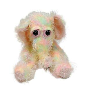 Russ Berrie Elephant Malva Neon Pastel Plush Soft Stuffed Toy Washed Clean 20cm