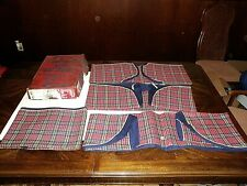 NOS Vintage 1950's 1960's PLAID BLUE Deluxe Budge Terry Coverall Car Seat Cover