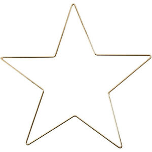 Large 30cm Metal Star to Decorate Gold Coloured Christmas Wedding Crafts DIY