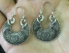 Elegant Oxidize New Fashion Silver Jumki Earrings For Wedding and Formal Events