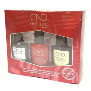 CND Shellac 40TH ANNIVERSARY Limited Edt Set Wildfire Duraforce Base GEL Polish