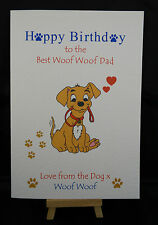 Personalised Handmade Happy Birthday Card from the Dog- Mam, Dad