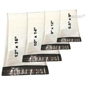 White Colored Mailing Bags Strong Plastic Postage Bag Poly Mail Postal Self Seal