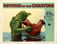 """Revenge of the Creature 1955 Lobby Card VF+ 1"""" piece of tape on back 1 of best.."""