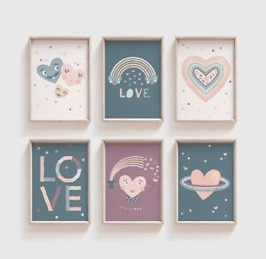 Love Prints Little Love Girls Bedroom Decor Boys Playroom Prints Wall Art