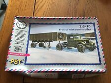 MAQUETTE CAMION ZIS 10 TRACTOR WITH SÉMINAIRE TRAILER PST 72063 1/72 NEUF