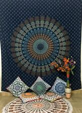 Simple & Soubar Queen Indian Cotton Tapestry Wall Hanging Bedding Bedspread Deco