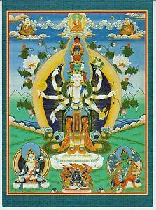 BUDDHIST ART of BURYATIA Danzan Dondokov Eleven-headed Avalokiteshvara POSTCARD