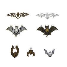 14 pcs Vintage Metal Bat Look Charm Pendant Findings Mix Crafts Accessories