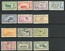 FALKLAND ISLANDS-1952 A fine used set to £1 Sg 172-185