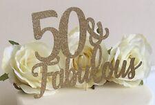 50 & Fabulous Cake Topper Birthday Decoration 50th Birthday Cake Topper Cake Dec