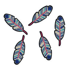 Sewing Craft Accessory Cool Feather Embroidered Patches Iron On DIY Patches