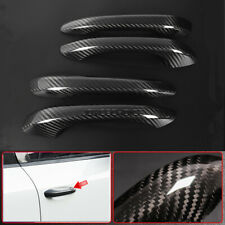 4x Carbon Fiber Exterior Door Handle Cover Trim For Porsche Macan 95B 2015-2019