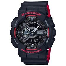Casio G-Shock Mens Wrist Watch GA110HR-1A  GA-110HR-1A Digital-Analog Black Red