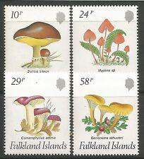 FALKLAND îles. 1987. Champignon Ensemble SG: 547/50. Mint Jamais à Charnières