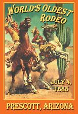 Prescott AZ Rodeo World's Oldest -  VINTAGE-  RODEO POSTER