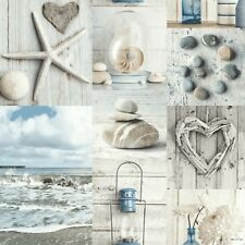 ARTHOUSE RUSTIC SEA SHELLS MARITIME COLLAGE QUALITY HEAVYWEIGHT WALLPAPER 699000